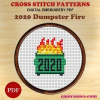 Image Embroidery Patterns 2020 Dumpster Fire