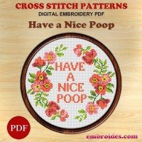 Image Embroidery Patterns Have a nice poop