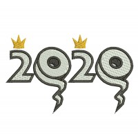 Toilet Paper 2020 Crowns Embroidery Design Image