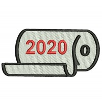 2020 Toilet Paper roll Embroidery Design Image