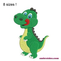Image Cute Dinosaur Embroidery Design