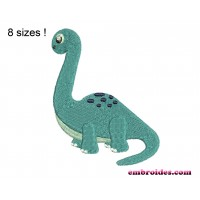 Image Dinosaur Brontosaurus Embroidery Design