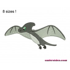 Image Dinosaur Pterodactyl Embroidery Design