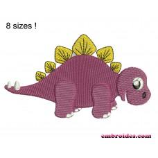 Image Dinosaur Stegosaurus Embroidery Design