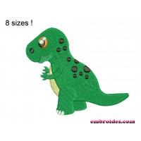 Dinosaur Tyrannosaurus Rex Embroidery Design