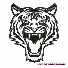 Image Growling Tiger Embroidery Design