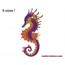 Sea Horse Embroidery Design