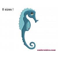 Sea Horse Small Embroidery Design