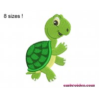 Image Turtle Cute Embroidery Design