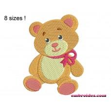 Bear Teddy Embroidery Design