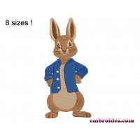 Bunny Peter Embroidery Design