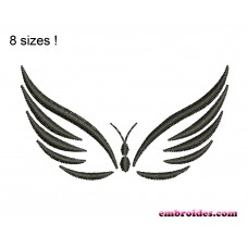 Image Butterfly Monochrome Embroidery Design