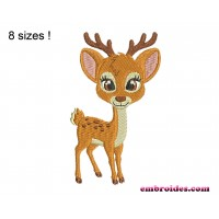 Image Deer Baby Fawn Embroidery Design