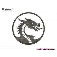 Dragon Logo Embroidery Design