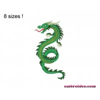 Dragon Snake Embroidery Design