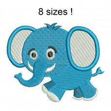 Image Elephant Blue Boy Embroidery Design