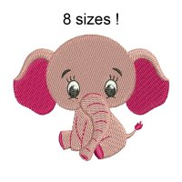 Image Elephant Cute Embroidery Design