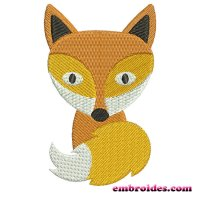 Cute Fox Embroidery Design Image