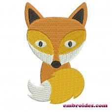 Cute Fox Embroidery Design Image