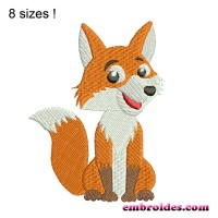 Image Smart Fox Embroidery Design
