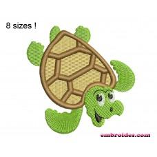 Turtle Sea Embroidery Design