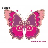Image Gorgeous Butterfly Applique Embroidery Design