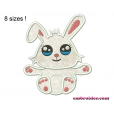 Image Bunny Cute Rabbit Applique Embroidery Design