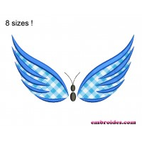 Image Butterfly Applique Embroidery Design