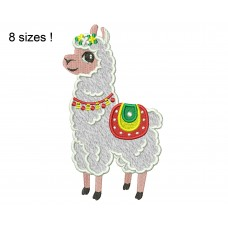 Llama Alpaca Applique Embroidery Design