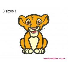 Lion Sit Applique Embroidery Design
