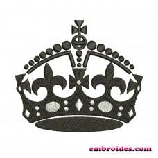 Crown Black Embroidery Design Image