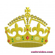 Image Gold Crown Embroidery Design