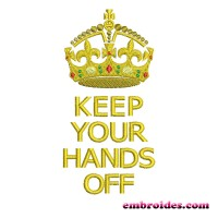 Image Keep Your Hands Off Embroidery Design