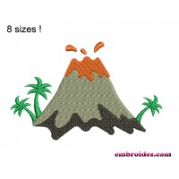 Image Volcano Embroidery Design
