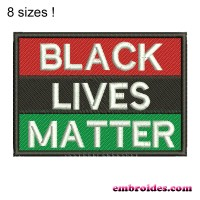 Image Black Lives Matter Embroidery Design