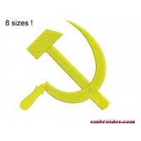 Image Sickle and hammer (USSR emblem) Embroidery Design