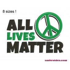 Image All Lives Matter Embroidery Design