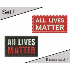 Image All Lives Matter Set Embroidery Designs