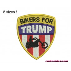 Image Bikers For Trump Embroidery Design