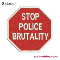 Image Stop Police Brutality Embroidery Design