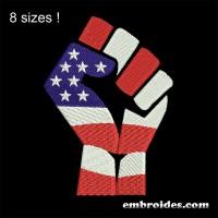 Image Fist Revolt American Embroidery Design