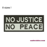 Image No Justice No Peace Embroidery Design