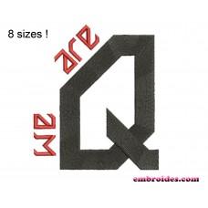 Image We Are QAnon Embroidery Design