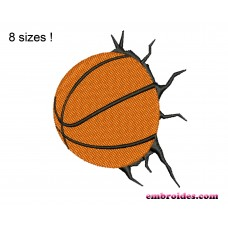 Image Basketball Crush Embroidery Design