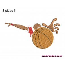 Image Basketball Above Embroidery Design