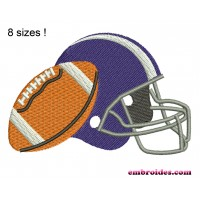 Image American Football Accessories Embroidery Design