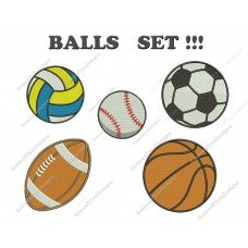 Image Balls Set Embroidery Design
