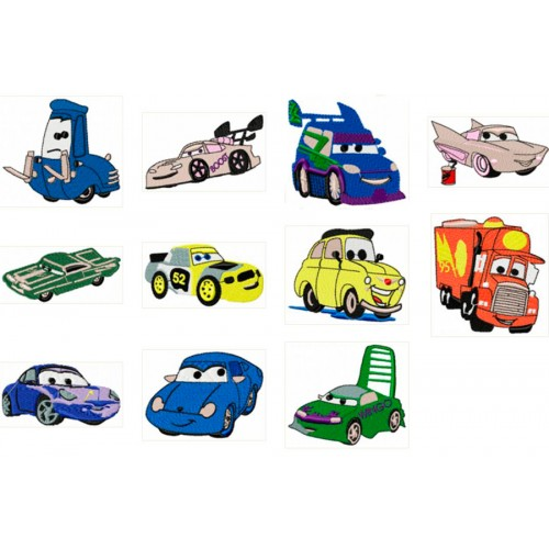 Mater Cars Applique Embroidery Design Instant Download