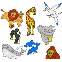 Image Free Embroidery Designs Cartoon Animals