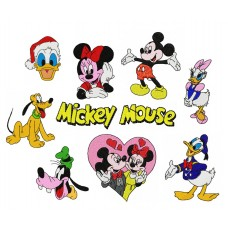 Image Embroidery Designs Disney Mickey Mouse and friends